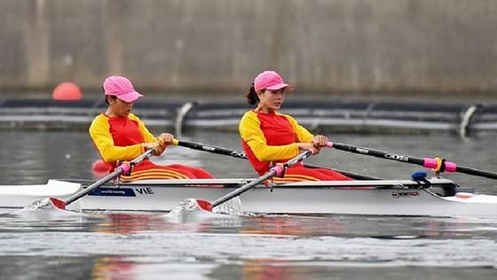 Các nữ tuyển thủ rowing Việt Nam.