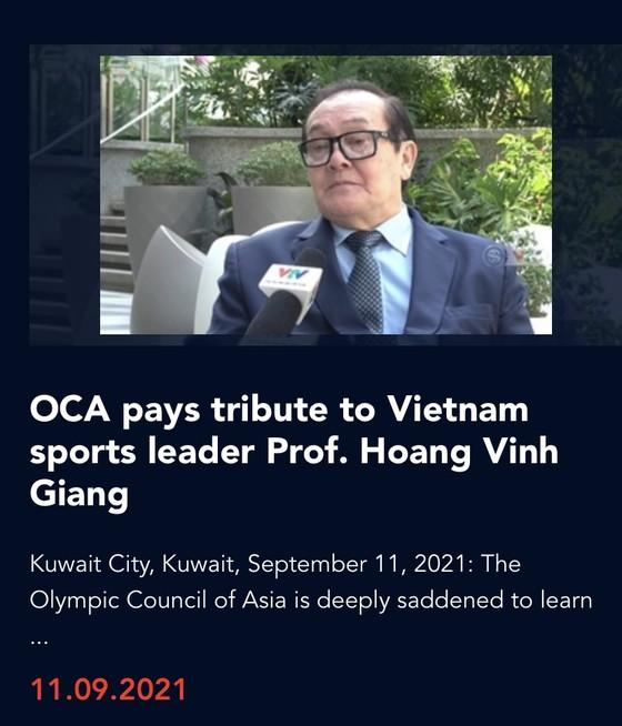 OCA gửi lời chia buồn đến thể thao Việt Nam vì sự mất mát lớn này.