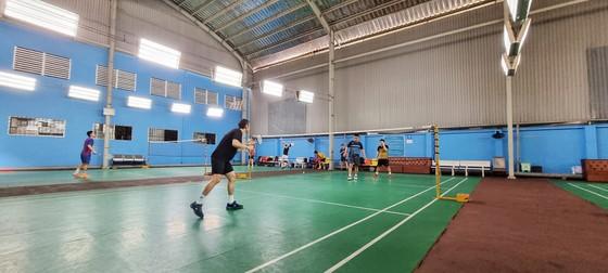 Đội tuyển cầu lông TPHCM tập luyện tại Nhà tập Tao Đàn. Ảnh: PHÚC NGUYỄN