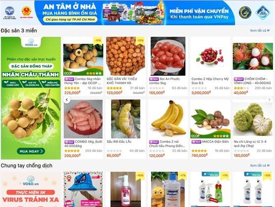 Hàng chục tấn rau quả tiêu thụ trên chợ mạng mỗi ngày ảnh 1