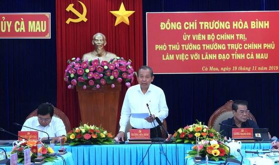 Phó Thủ tướng Thường trực Trương Hòa Bình làm việc tại Cà Mau ảnh 1