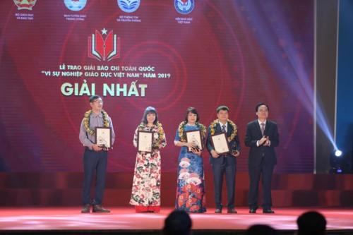Trao giải báo chí toàn quốc 'Vì sự nghiệp Giáo dục Việt Nam' năm 2019 ảnh 1