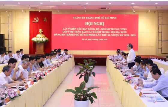 TPHCM lắng nghe bộ ngành Trung ương góp ý dự thảo (lần 2) Báo cáo chính trị Đại hội đại biểu Đảng bộ TPHCM lần thứ XI ảnh 1