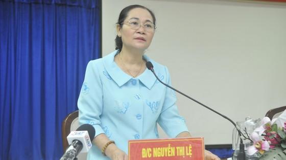 Chủ tịch HĐND TPHCM Nguyễn Thị Lệ kiểm tra việc chuẩn bị bầu cử tại TP Thủ Đức ảnh 2