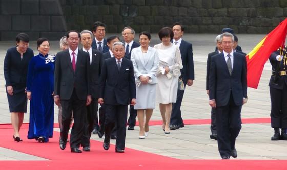 Lễ đón chính thức Chủ tịch nước Trần Đại Quang tại Hoàng cung Nhật Bản ảnh 1