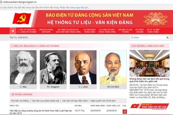 """Ra mắt giao diện mới """"Hệ thống Tư liệu - Văn kiện Đảng"""" trên mạng internet ảnh 1"""