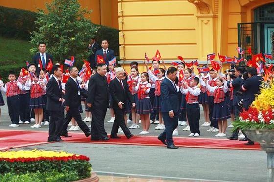 Lễ đón chính thức Chủ tịch Triều Tiên Kim Jong-un ảnh 3