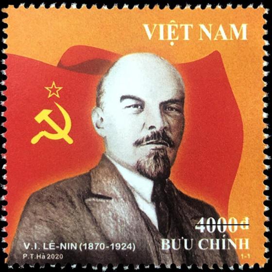 Phát hành bộ tem Kỷ niệm 150 năm ngày sinh Lênin ảnh 1