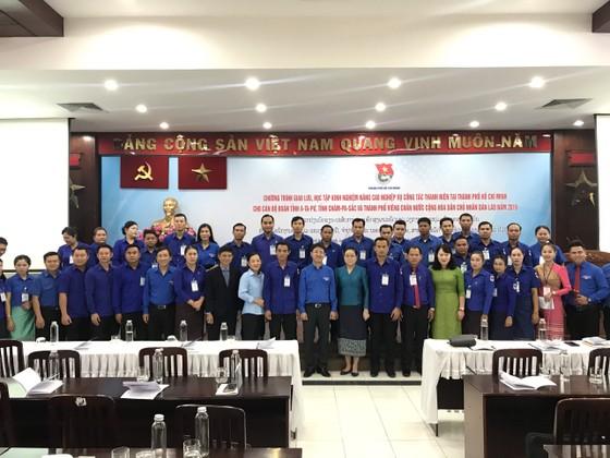 Thành đoàn TPHCM giao lưu với Đoàn thanh niên Nhân dân Cách mạng Lào  ảnh 1