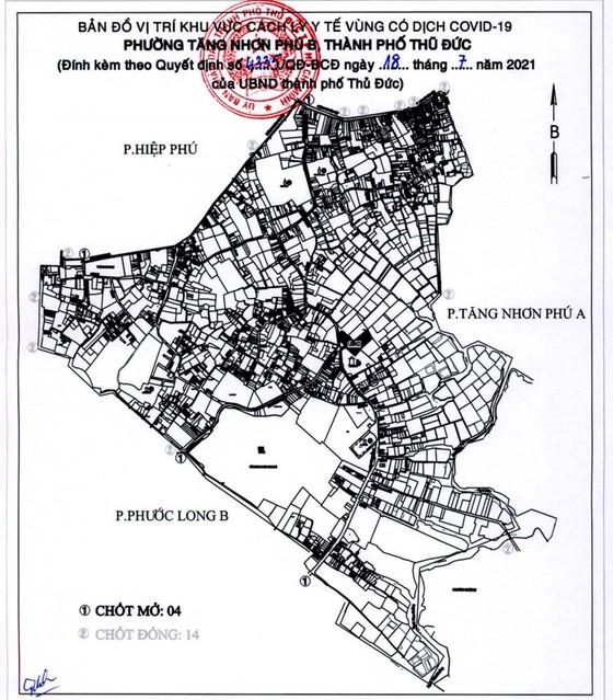 0 giờ ngày 19-7, TP Thủ Đức phong tỏa phường thứ 10 và 11 trên địa bàn ảnh 1