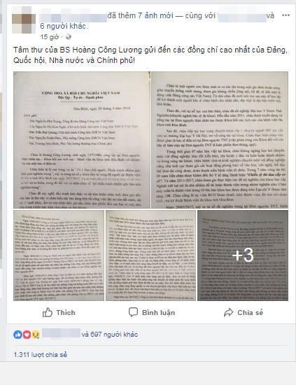 Bác sĩ Hoàng Công Lương gửi tâm thư đến lãnh đạo Đảng, Nhà nước ảnh 1