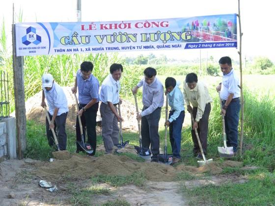 Cựu sinh viên ĐH Bách Khoa TP.HCM khởi công xây cầu cho dân ảnh 1