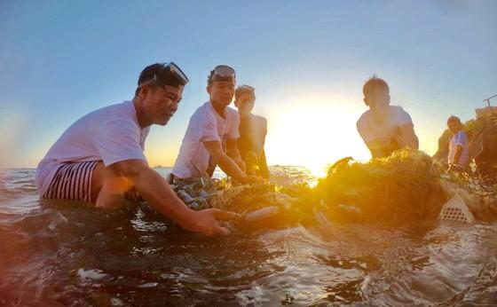Lặn vớt rác dưới đáy biển Lý Sơn (Quảng Ngãi) ảnh 6