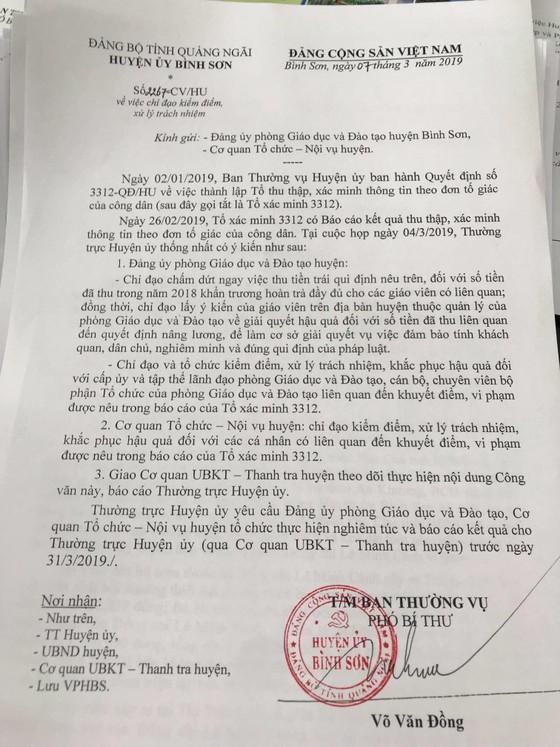 Chuyện lạ ở Quảng Ngãi: Thu phí 10.000 đồng/quyết định nâng lương giáo viên suốt 12 năm qua ảnh 1