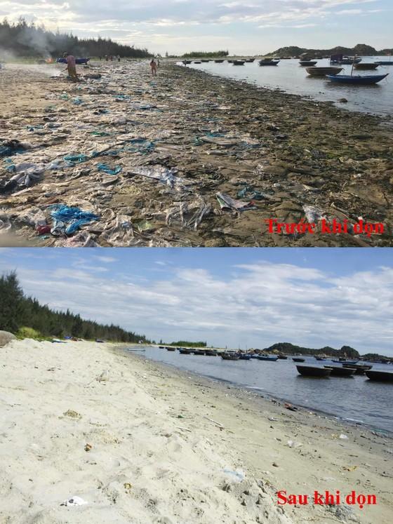 Chỉ 7 ngày, 140 người dân dọn sạch rác bãi biển Sa Cần  ảnh 5