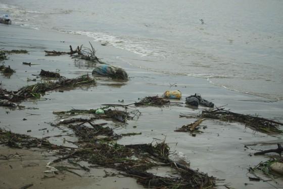 Củi, rác thải phủ khắp hạ lưu sông Trà Bồng sau bão số 5 ảnh 3