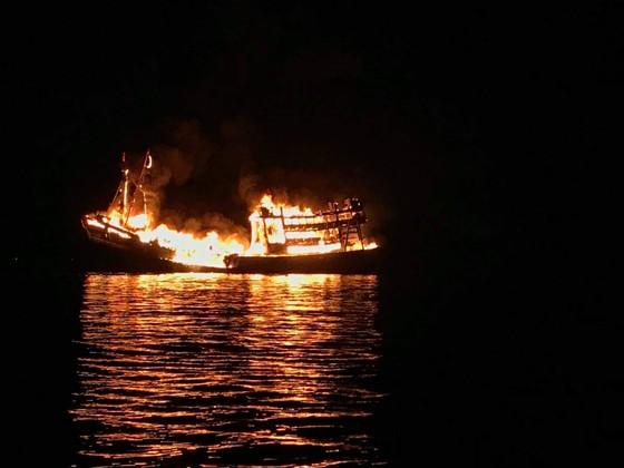 Tàu cá bốc cháy, thiệt hại hơn 2 tỷ đồng ảnh 1