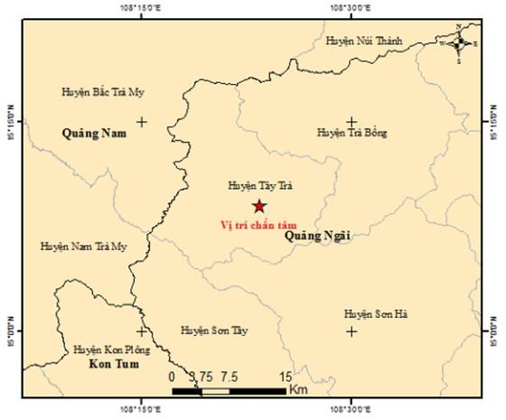 Bốn trận động đất trong một ngày ở miền núi tỉnh Quảng Ngãi ảnh 2