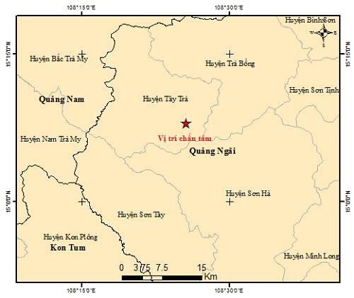 Bốn trận động đất trong một ngày ở miền núi tỉnh Quảng Ngãi ảnh 1