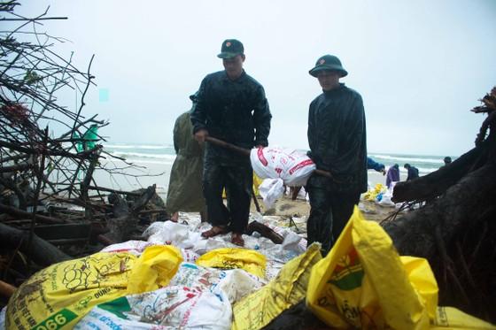 Bộ đội giúp dân chống sạt lở bờ biển Bình Hải ảnh 11