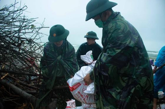 Bộ đội giúp dân chống sạt lở bờ biển Bình Hải ảnh 9