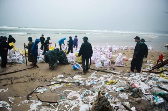 Bộ đội giúp dân chống sạt lở bờ biển Bình Hải ảnh 6