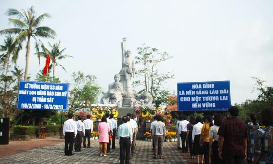 Tưởng niệm 53 năm Ngày 504 đồng bào Sơn Mỹ bị thảm sát ảnh 1