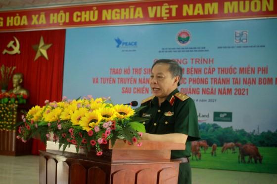 Hội Hỗ trợ khắc phục hậu quả bom mìn Việt Nam trao hỗ trợ sinh kế cho nhân dân Quảng Ngãi ảnh 1