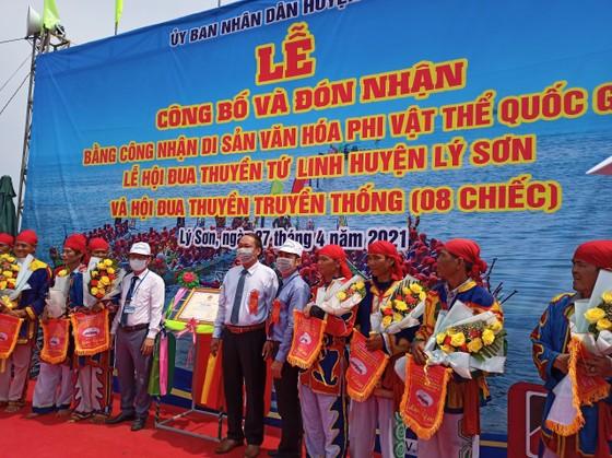 Lễ hội đua thuyền tứ linh Lý Sơn được công nhận là di sản văn hóa phi vật thể quốc gia ảnh 3