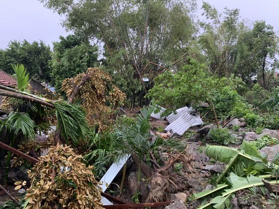 Quảng Ngãi: Lốc xoáy làm nhà dân ven biển bị tốc mái, ngã đổ cây ảnh 5
