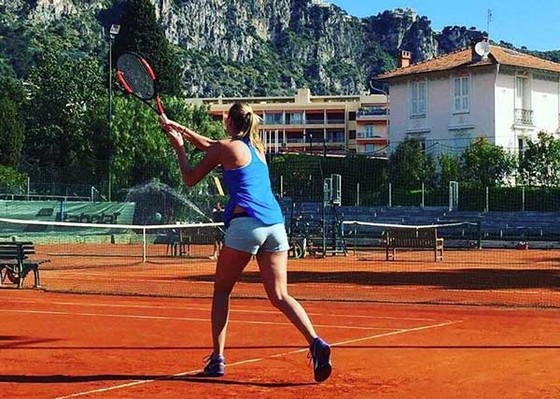 Petra Kvitova  quay trở lại sân tập