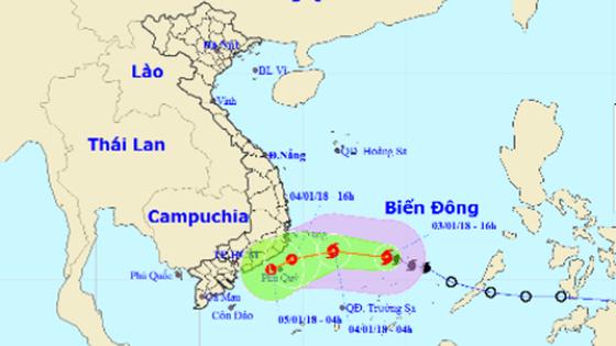 Bão số 1 suy yếu thành áp thấp nhiệt đới ảnh 1