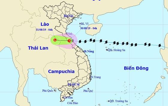 Bão số 4 suy yếu thành áp thấp nhiệt đới trên đất liền ảnh 1