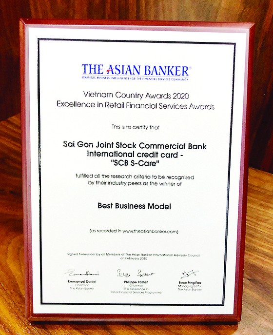 Thẻ tín dụng quốc tế S-Care của SCB được The Asian Banker vinh danh là 'Mô hình kinh doanh tốt nhất' ảnh 1