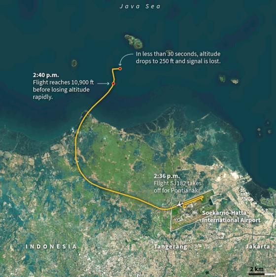 Vụ máy bay rơi tại Indonesia: Tìm thấy nhiều phần thi thể, bắt được tín hiệu hộp đen máy bay ảnh 2