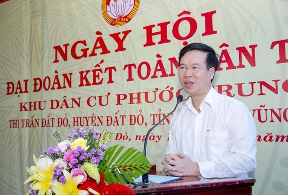 Trưởng Ban Tuyên giáo Trung ương Võ Văn Thưởng dự Ngày hội Đại đoàn kết toàn dân tộc tại Bà Rịa-Vũng Tàu ảnh 1