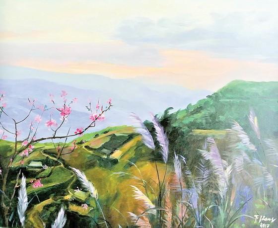 Triển lãm Qua miền Tây Bắc của NSND - họa sĩ Trà Giang: Không gian hiện tại và hồi ức ảnh 1