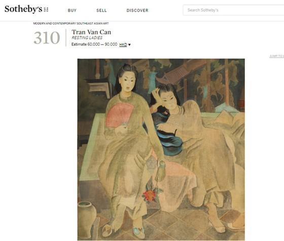 Sotheby's 拍賣越南美術博物館偽畫? ảnh 2