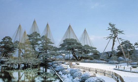 夜燈下的奇幻色彩!日本三大名園——兼六園的秋與冬! ảnh 7