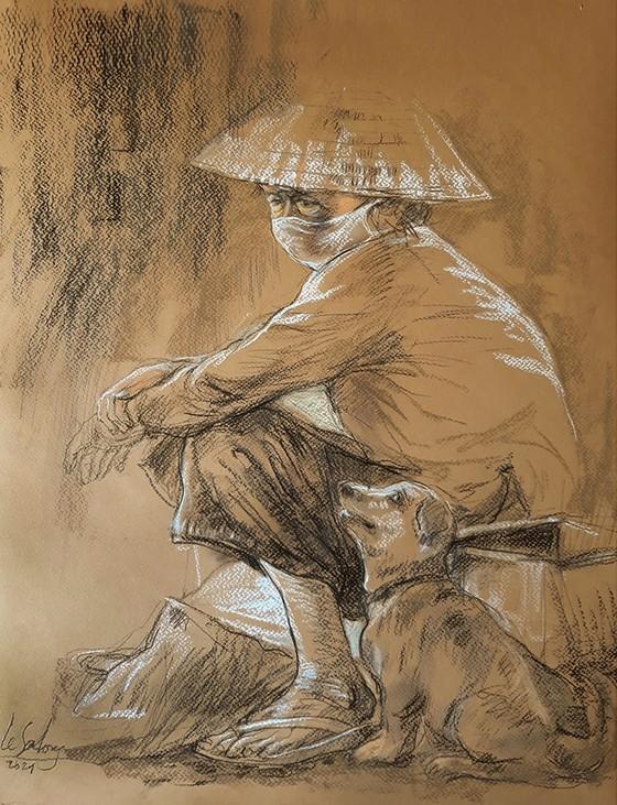畫家黎沙龍:西貢隔離時 ảnh 11