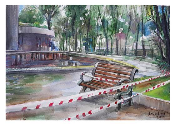 畫家黎沙龍:西貢隔離時 ảnh 9