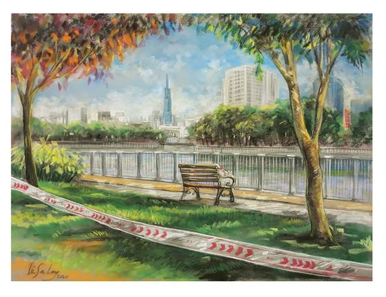 畫家黎沙龍:西貢隔離時 ảnh 7