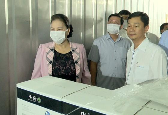 Chủ tịch Quốc hội Nguyễn Thị Kim Ngân thăm cơ sở sản xuất giống lúa ST25 ảnh 4