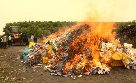 Tiêu hủy hơn 164.000 bao thuốc lá nhập lậu ảnh 1