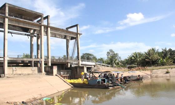 Cống Bà Xẫm (Long Phú, Sóc Trăng), nơi ghi nhận độ mặn 3,2 ‰ vào sáng 11-1
