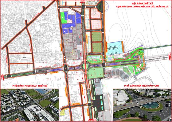 Đề xuất xây dựng nút giao thông 3 tầng phía Tây cầu Trần Thị Lý  ảnh 1