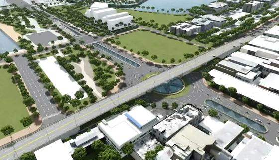 Đề xuất xây dựng nút giao thông 3 tầng phía Tây cầu Trần Thị Lý  ảnh 2