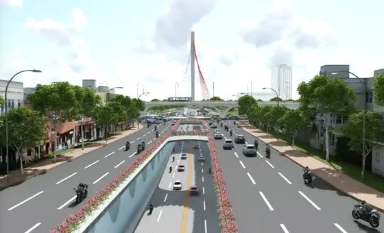 Đề xuất xây dựng nút giao thông 3 tầng phía Tây cầu Trần Thị Lý  ảnh 3