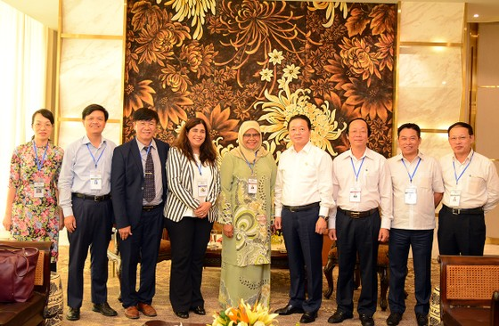 GEF6: Bộ trưởng Trần Hồng Hà tiếp và làm việc với Phó Tổng Thư ký Liên hợp quốc Maimunah Mohd Shari ảnh 1