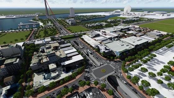 Cuối năm nay khởi công xây dựng nút giao thông phía Tây cầu Trần Thị Lý ảnh 1